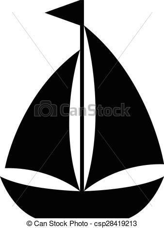 Sailboat clipart vector Sailboat icon csp28419213 of sailing