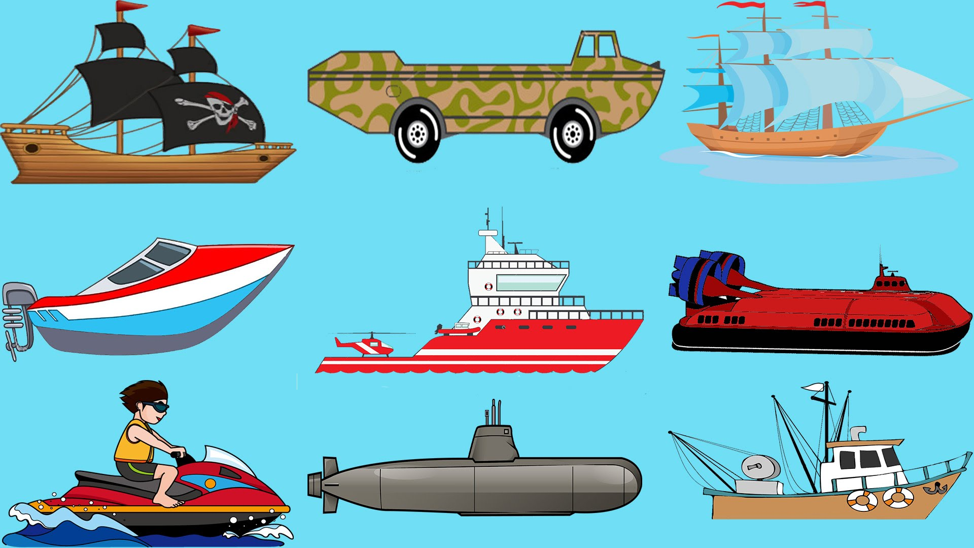 Yacht clipart water vehicle Sailing boat Yacht Learning Vehicles