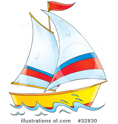 Yacht clipart toy sailboat #32830 by Bannykh Clipart (RF)