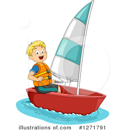 Sailing clipart (RF) Royalty Illustration Free Illustration