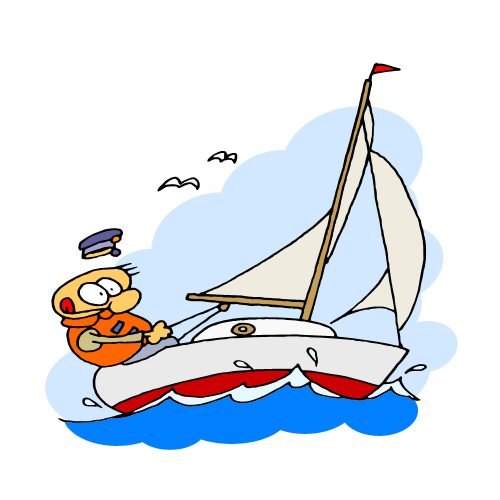 Sailboat clipart boating #8