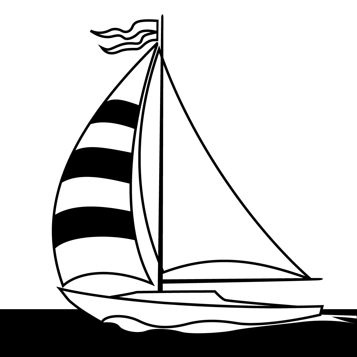 Lighthouse clipart line drawing Sailboat Clipart Clipart Art Clip