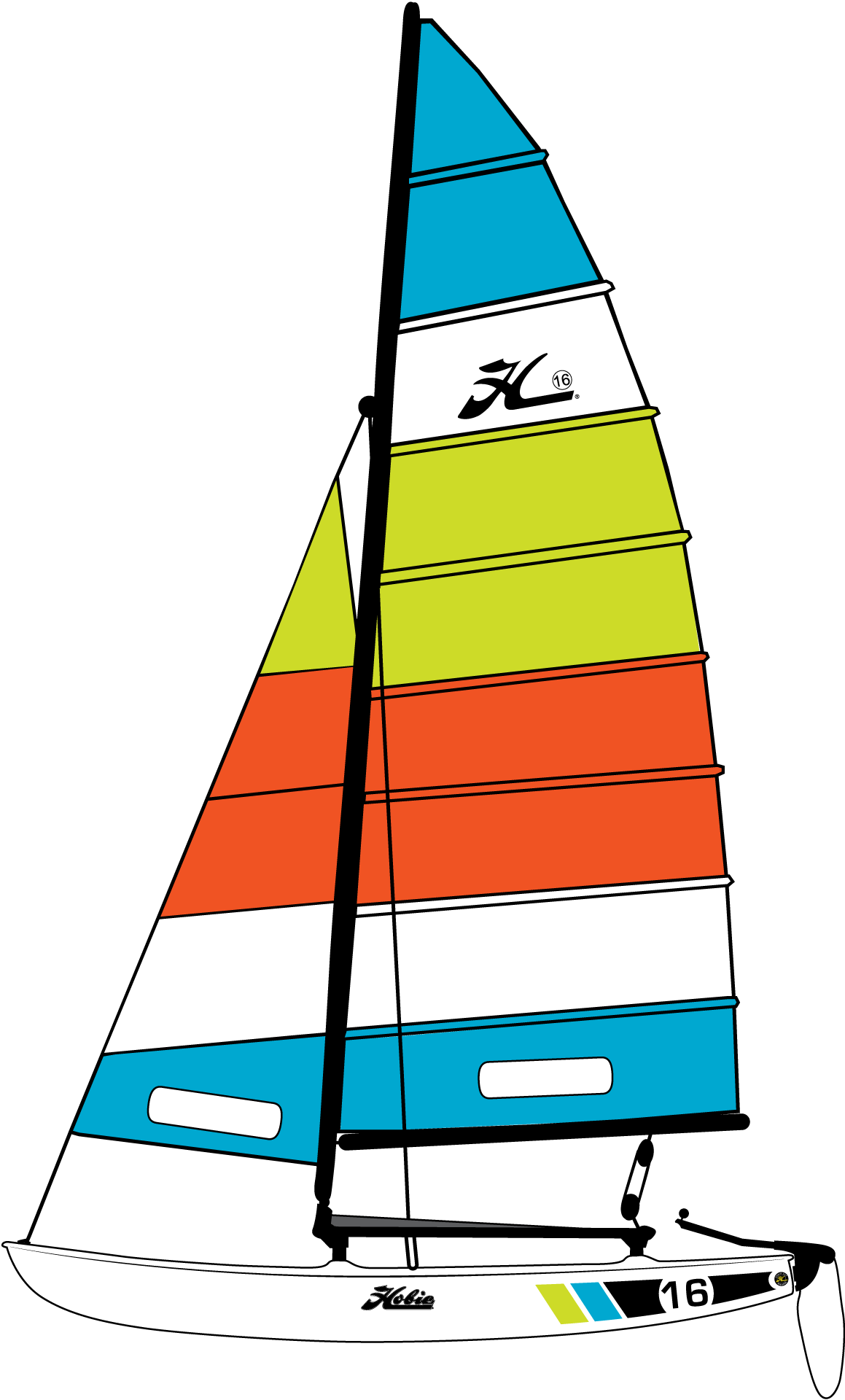 Sailing clipart catamaran #10