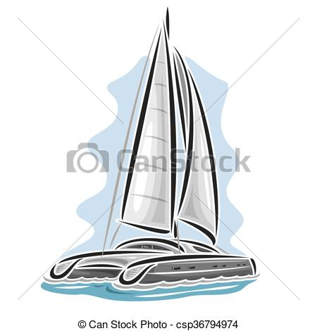 Sailing clipart catamaran #4