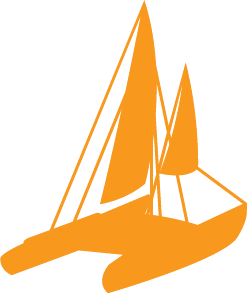 Sailing clipart catamaran #9