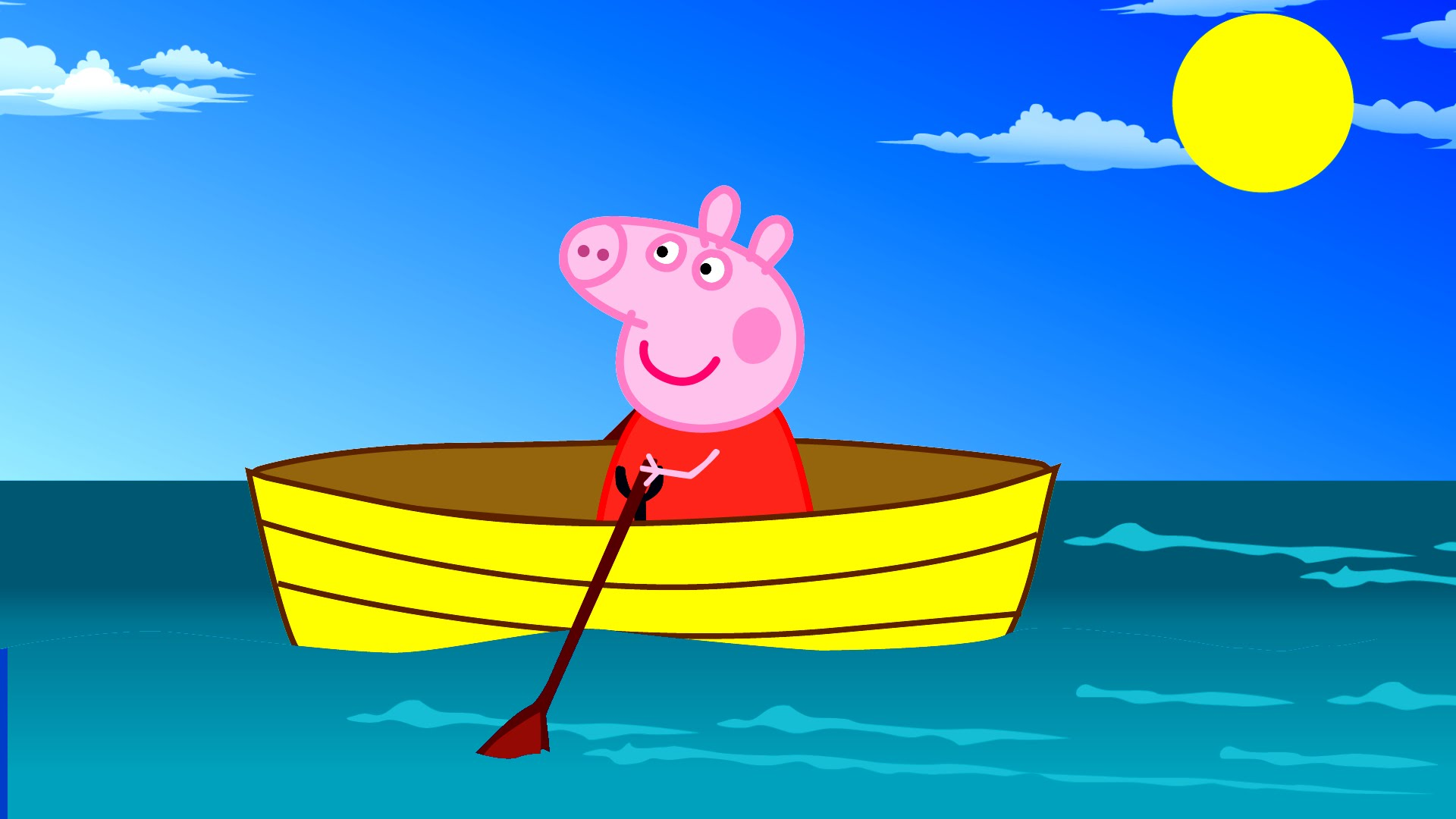 Sailing Boat clipart family boating Peppa Sailing Boat Finger Sailing