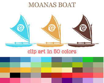 Sailing Boat clipart transport Boat Digital Moanas Boat Raft