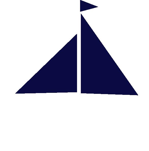 Sailing clipart navy blue #1