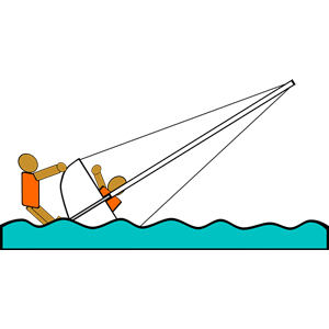 Sailing clipart rescue boat Of Capsized formats Sailing Rescue