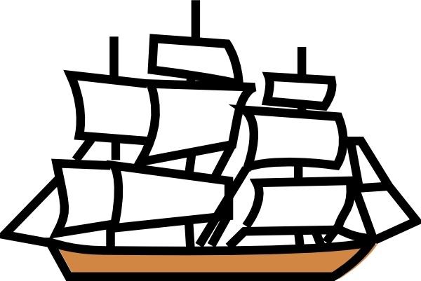 Sailing Ship clipart Ship svg clip Sailing art