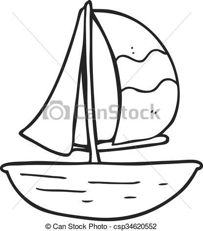 Drawn ship cartoon Cartoon Vector sail ship sail