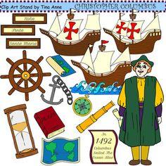 Sailing Ship clipart christopher columbus Pinta Santa Art Nina Clip
