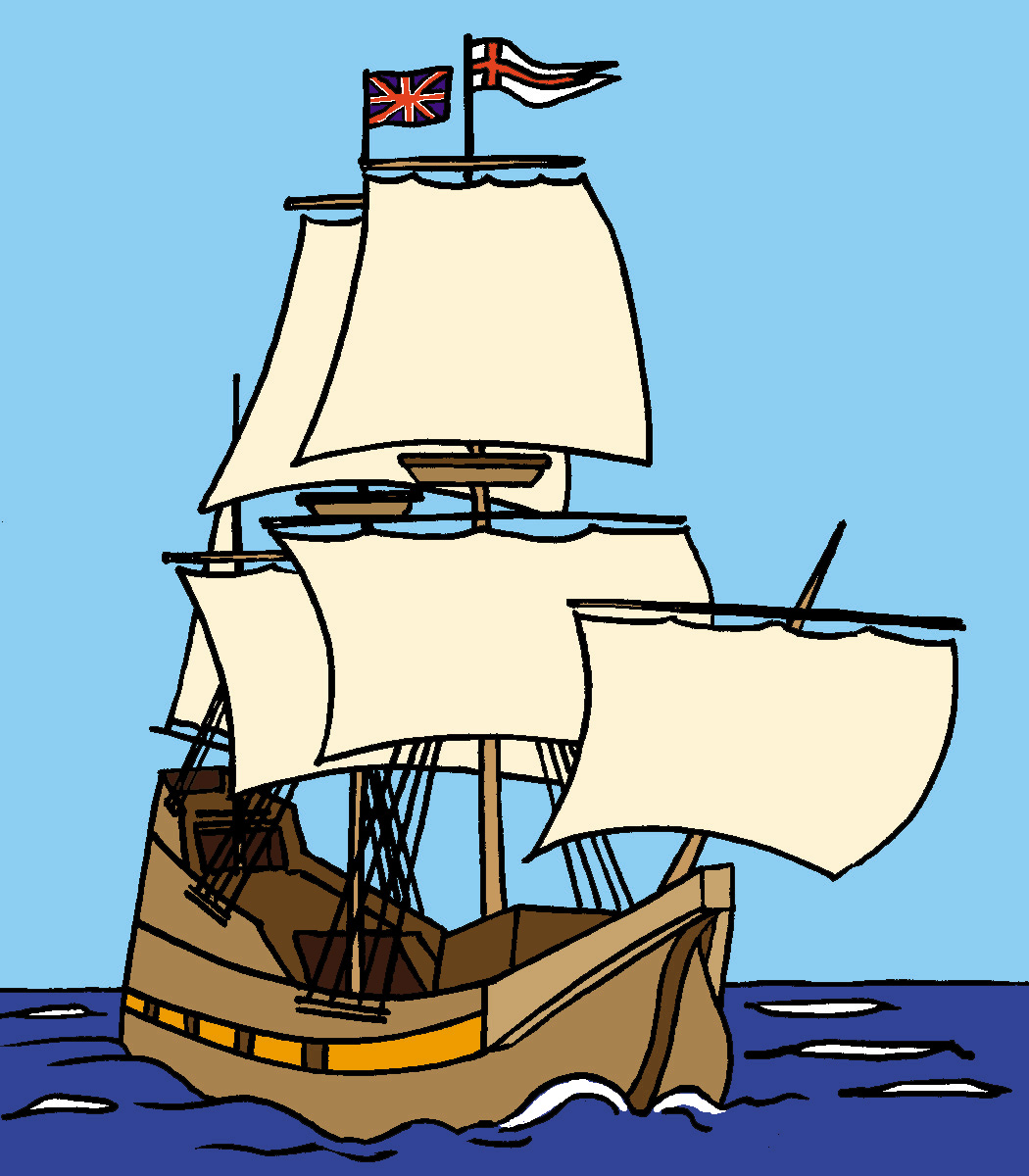Old Sailing Ships clipart colonial Newsletters Keywords color Mayflower Mayflower