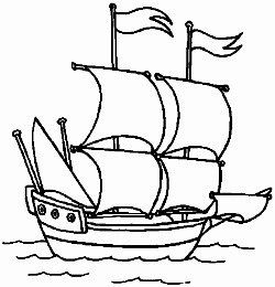 Sailing Ship clipart colouring page #14