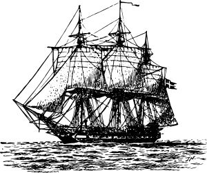 Sailing Ship clipart first continental congress Frigate Frigate Die Pinterest 25+