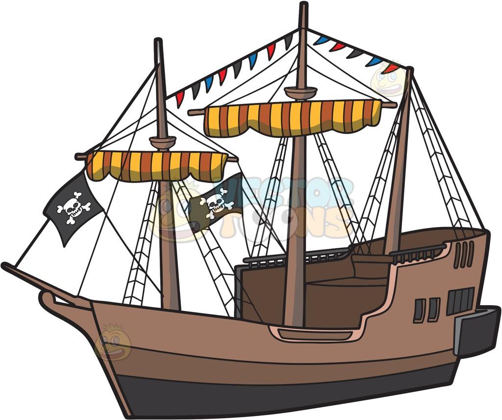 Windows clipart pirate ship Cartoon Clipart Ship Cartoon Pirate