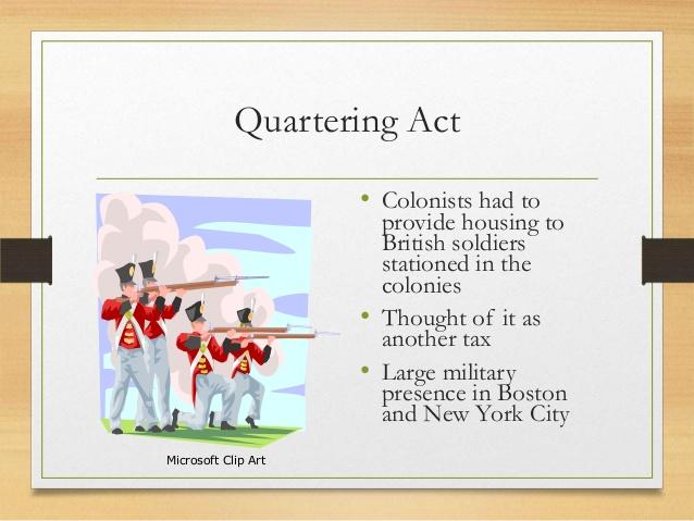 Sailing Ship clipart intolerable act American Quartering wk2 Act• revolution