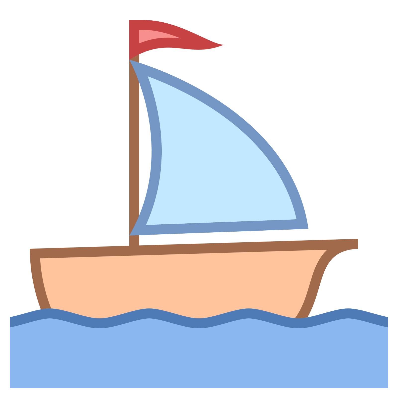 Sailing clipart little boat #13
