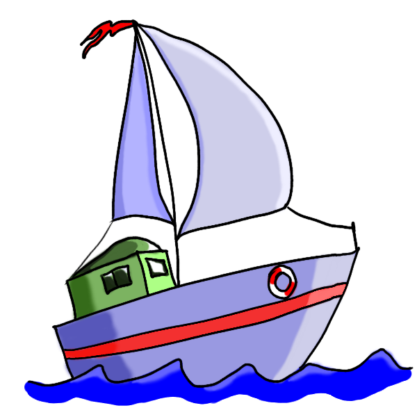Sailing clipart little boat #15