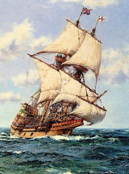 Sailing Ship clipart mayflower compact #3