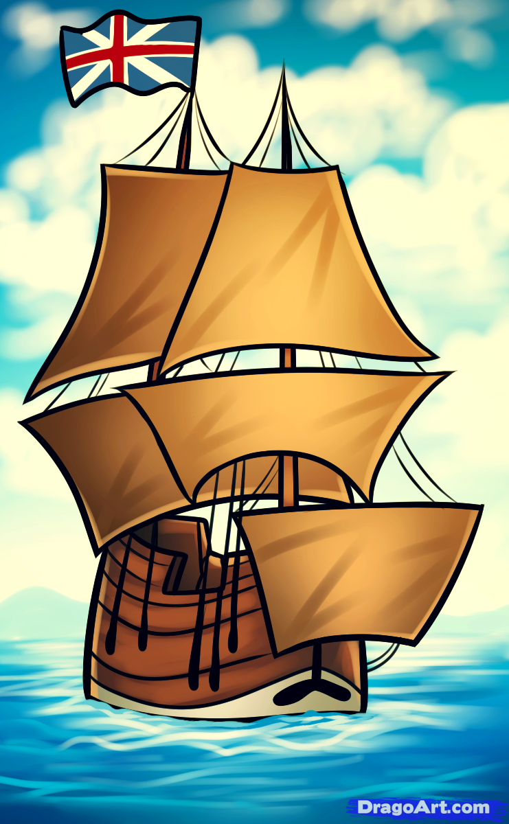 Sailing Ship clipart mayflower compact #6
