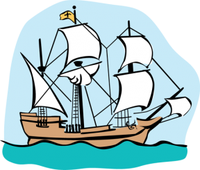 Sailing Ship clipart mayflower compact #5