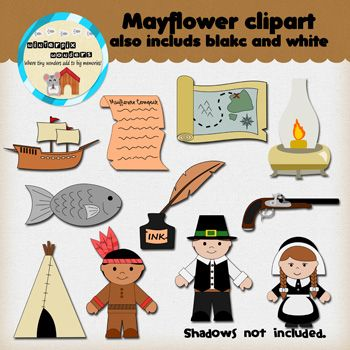 Sailing Ship clipart mayflower compact #1