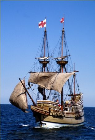 Sailing Ship clipart mayflower compact #2