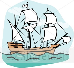 Sailing Ship clipart mayflower ship #2