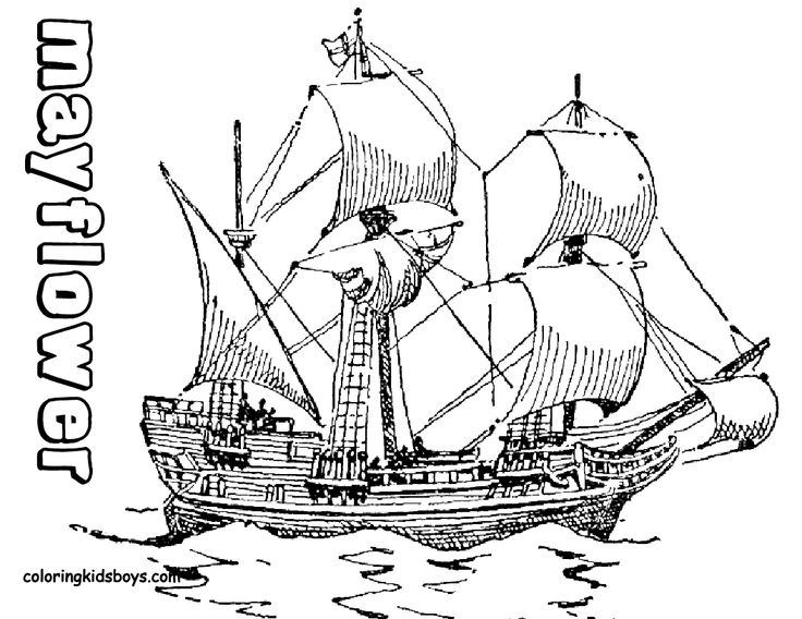 Pilgrim clipart mayflower More Ship coloring by learning