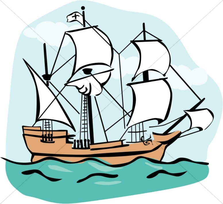 Boat clipart mayflower Mayflower Thanksgiving Clipart Mayflower Clipart