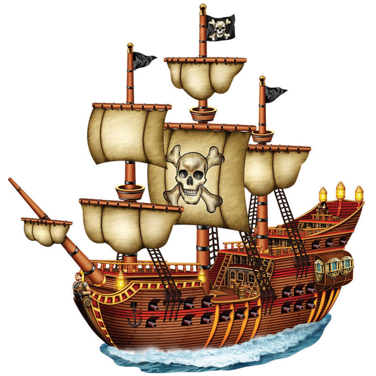 Sailing Ship clipart pirate the caribbean Pirate ships Themed Pirate Ship