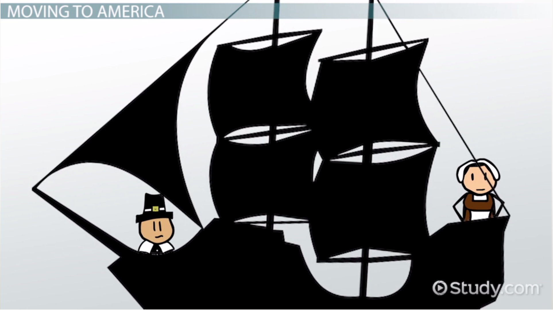 Sailing Ship clipart puritans In & Puritans Video Beliefs