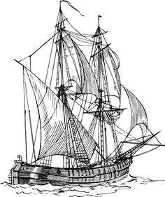 Caravel clipart clipper ship #3