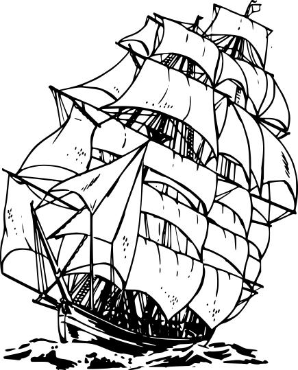 Caravel clipart clipper ship #2