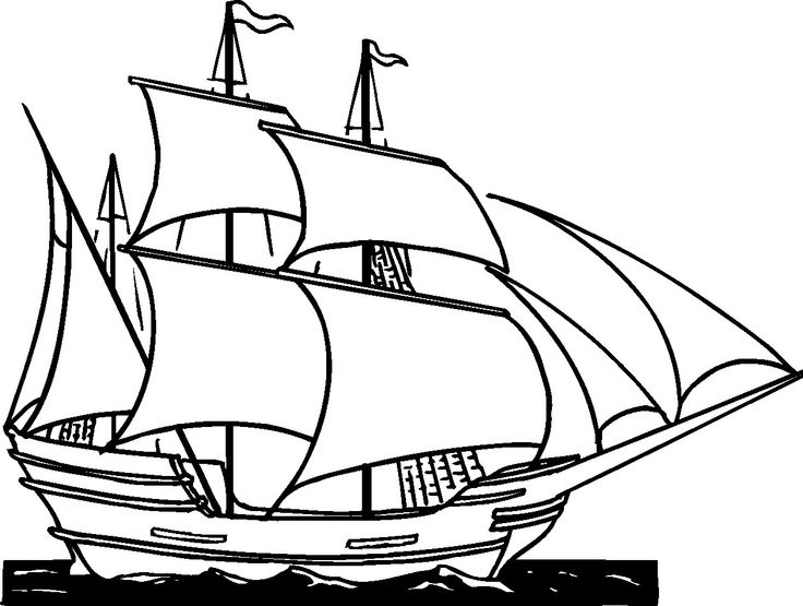 Old Sailing Ships clipart coloring page Clipper Ship Cliparts Cartoon ship