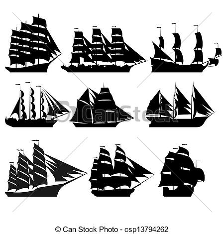 Sailing Ship clipart vector Art ships the Sailing of