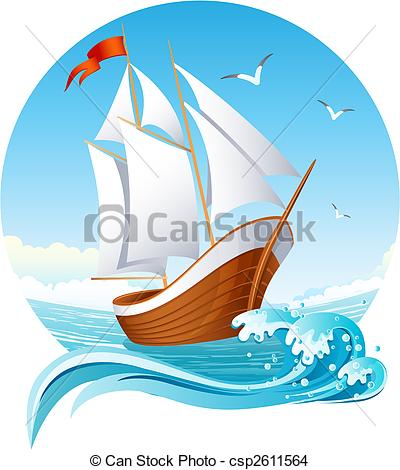 Sailing Ship clipart vector #3
