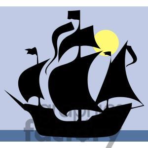 Sailing Ship clipart vector #6