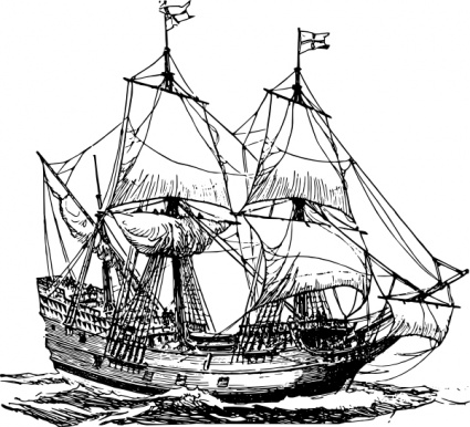 Sailing Ship clipart vector Clip ships Carrack free