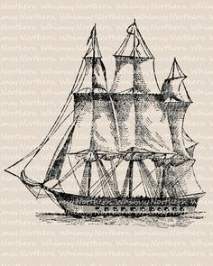 Old Sailing Ships clipart vintage Clip Nautical white Image vintage