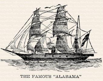 Old Sailing Ships clipart vintage Sailing Antique Ship Printable aArt