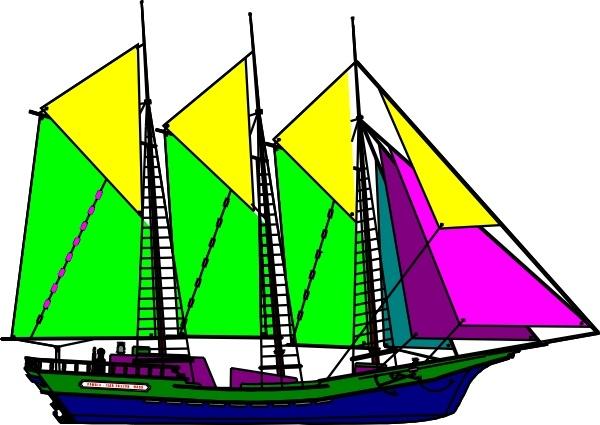 Yellow clipart ship Ship Ship Sailing in Yellow
