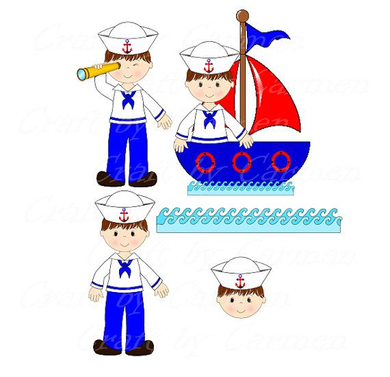 Sailor clipart telescope Baby shower Art boat images
