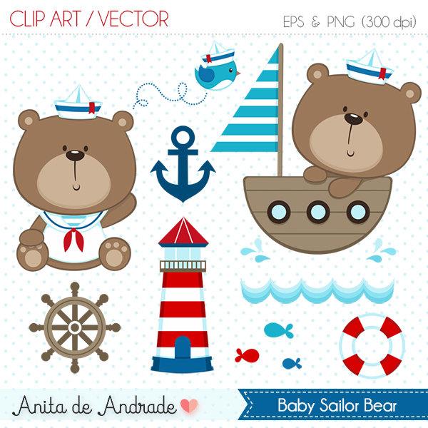 Teddy clipart sailor Use Digital Etsy Sailor clip
