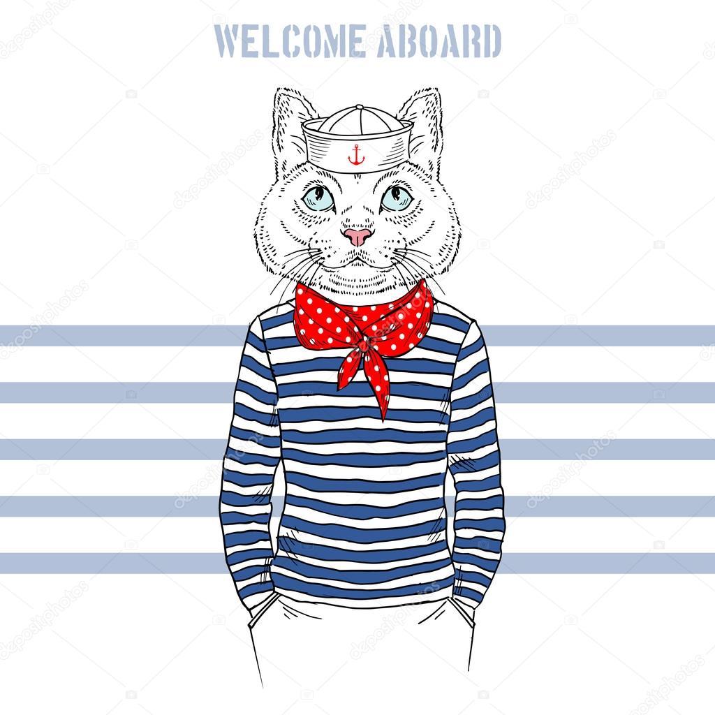 Scarf clipart sailor #8