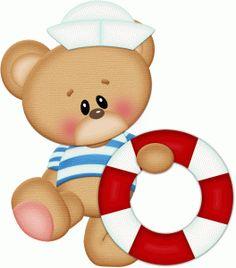 Sailor clipart teddy bear Infantil marinheiro feltro  png