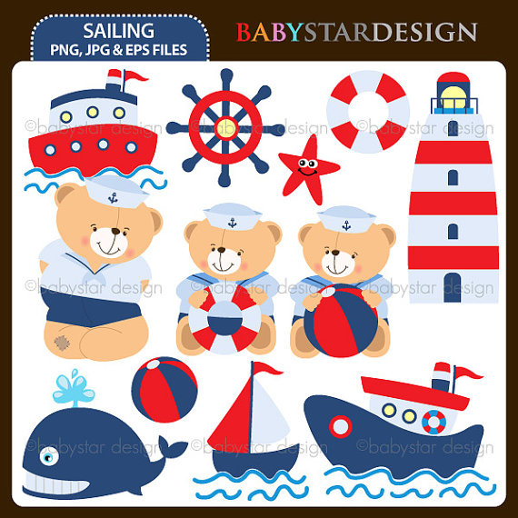 Teddy clipart nautical #4