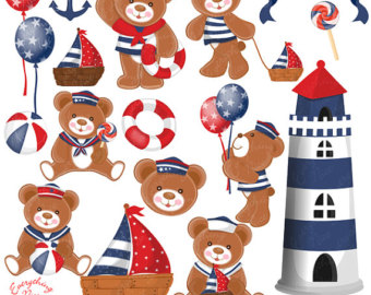 Teddy clipart nautical #1
