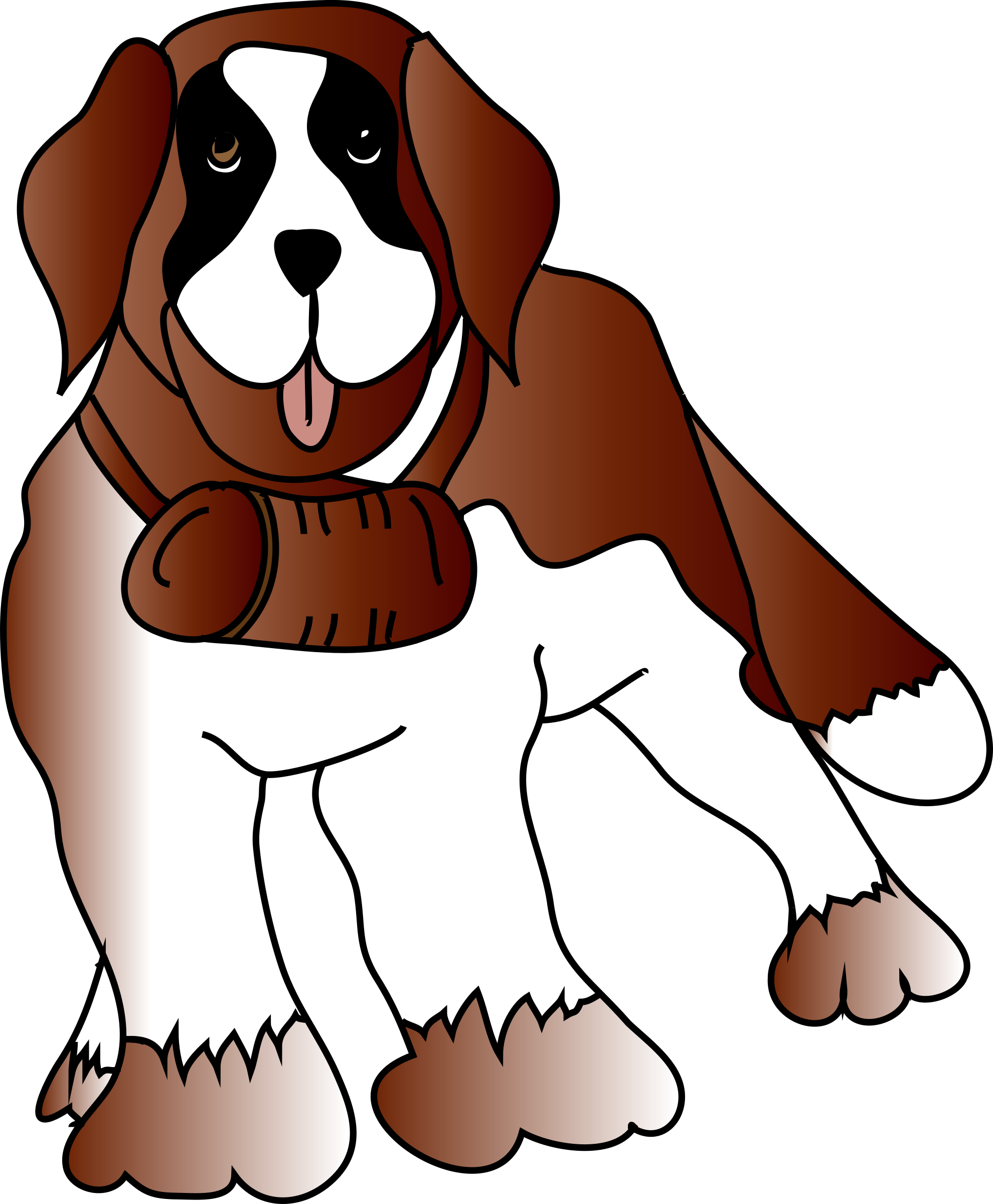 St. Bernard clipart By spevi saint dog Clipart